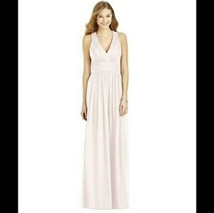 Dessy After Six Pale Pink Bridesmaid Prom Dress